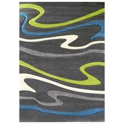 DonnieAnn Company Studio 603 Charcoal Wave Area Rug; 7' x 5'