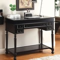 Hokku Designs Lincoln Secretary Desk; Black
