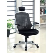 Hokku Designs Tarbo Mesh Conference Chair with Arms; Black