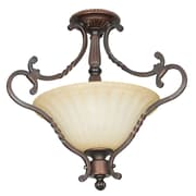 Sunset Lighting Graham 2-Light Semi-Flush Mount
