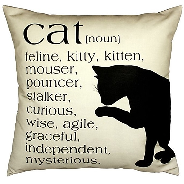 Uptown Artworks Cat Throw Pillow; Sand