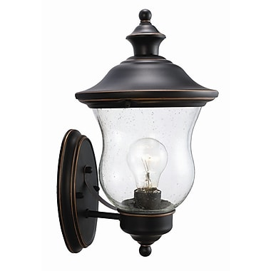 Design House Highland 1 Light Outdoor Sconce; Oil Rubbed Bronze
