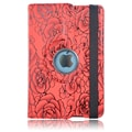 Bargain Tablet Parts iPad Mini Rose Rotating Case; Red