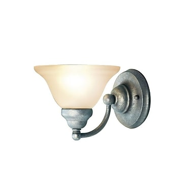 Woodbridge Anson 1-Light Bath Sconce; Greystone