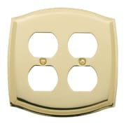 Baldwin Colonial Design Double Duplex Switch Plate in Polished Brass