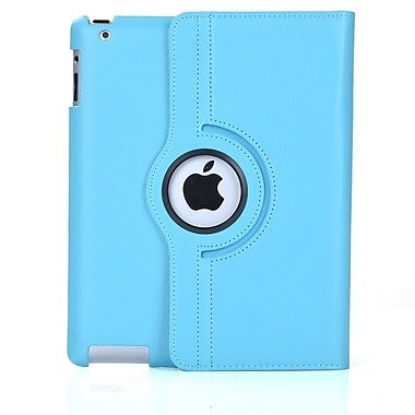 Bargain Tablet Parts iPad Air Synthetic Leather Rotating Case; Light Blue