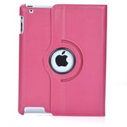 Bargain Tablet Parts iPad Air Synthetic Leather Rotating Case; Candy Pink