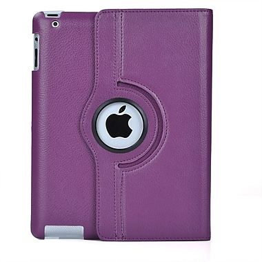 Bargain Tablet Parts iPad Air Synthetic Leather Rotating Case; Purple
