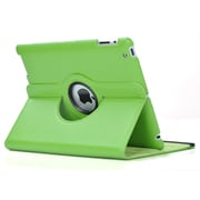 Bargain Tablet Parts iPad Air Synthetic Leather Rotating Case; Green