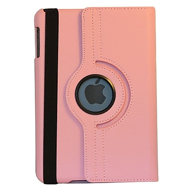 Bargain Tablet Parts iPad Mini Synthetic Leather Rotating Case; Pink