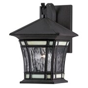 Westinghouse Lighting Riverbend Exterior 1 Light Water Glass Wall Lantern; 11''H x 7''W x 7.75''D