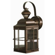 Heath-Zenith New England Carriage Style Motion Activated Security Light; Antique Bronze