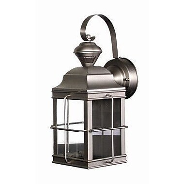 heath zenith motion activated 1 light outdoor wall lantern security. Black Bedroom Furniture Sets. Home Design Ideas
