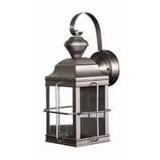 Heath-Zenith Motion Activated 1 Light Outdoor Wall Lantern Security Light; Brushed Nickel