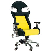 Pit Stop Furniture Mid-Back Desk Chair; Yellow