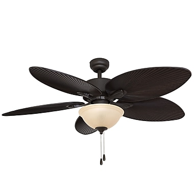 Calcutta 52'' Palmira Bowl Light 5 Blade Ceiling Fan ; Bronze