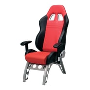 Pit Stop Furniture Receiver Chair Supported with Steel Alloy Base; Red