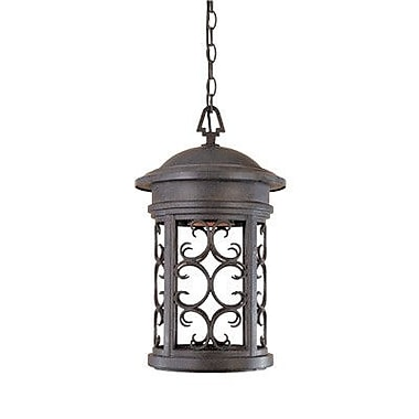 Designers Fountain Ellington 1-Light Outdoor Hanging Lantern; Mediterranean Patina