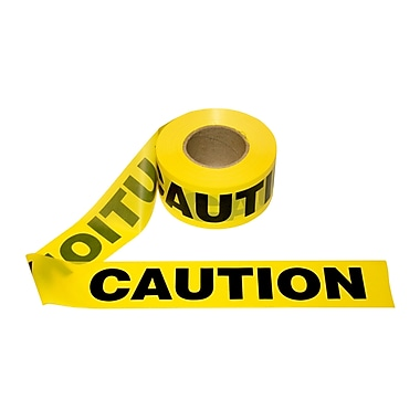 Cordova 3 in. x 1000 ft Yellow Caution Tape - 1.5 mil. Thickness