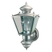 Heath-Zenith Charleston Coach 1 Light Outdoor Wall Lighting; Silver