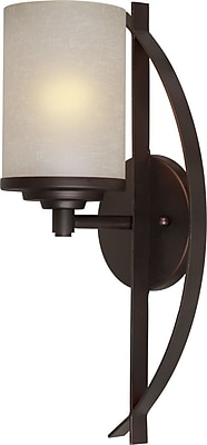 Forte Lighting 1-Light Bracket Wall Sconce Staples
