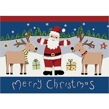Milliken Winter Seasonal Santa Deer Christmas Doormat; 3'10'' x 5'4''