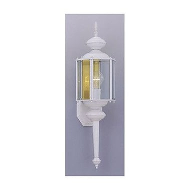Designers Fountain Outdoor 1-Light Outdoor Wall lantern; Distressed Bronze