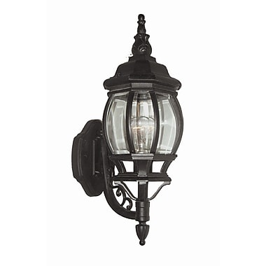 Woodbridge Basic 1 Light Outdoor Sconce; Powder Coat Black