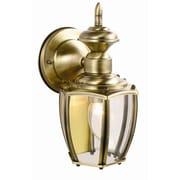 Design House Jackson 1-Light Outdoor Wall Lantern; Antique Brass