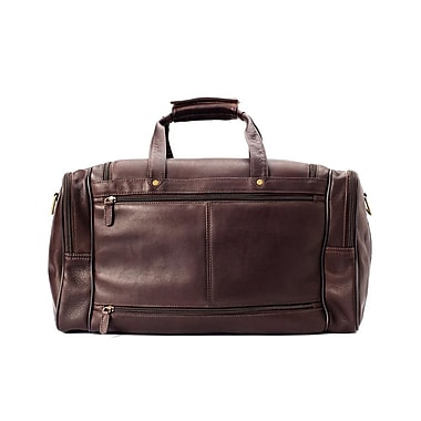 Winn International Colombian Leather Duffel Bag; Chocolate