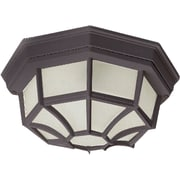 Maxim Lighting Crown Hill 2-Light Outdoor Ceiling Mount; Rust Patina