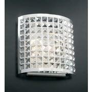 PLC Lighting Jewel 2 Light Wall Sconce; 12'' H x 12'' W x 4.5'' D