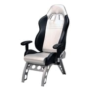 Pit Stop Furniture Receiver Chair Supported with Steel Alloy Base; Silver