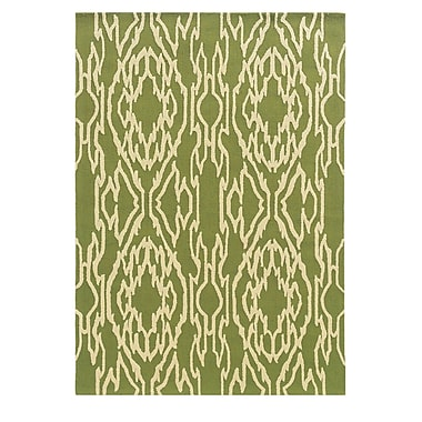 Linon Rugs Le Soleil Green Ivory Outdoor Rug 5 x 7