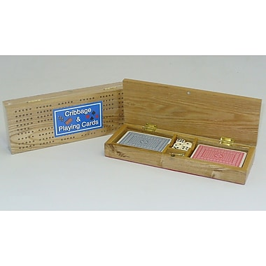 Square Root Games Cribbage Box with Cards