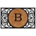 Home & More Circle Monogram Doormat; B