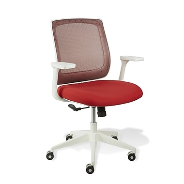 Jesper Office White Camilla Mesh Office Chair; Red