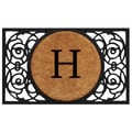 Home & More Circle Monogram Doormat; H