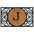 Home & More Circle Monogram Doormat; J