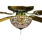 Meyda Tiffany Victorian Tiffany Turning Leaf Fan 3 Light Light Fixture
