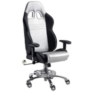 Pit Stop Furniture Grand Prix Executive Chair; Silver