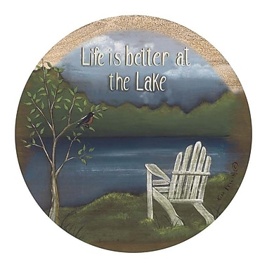 Thirstystone Life at the Lake Coaster (Set of 4)