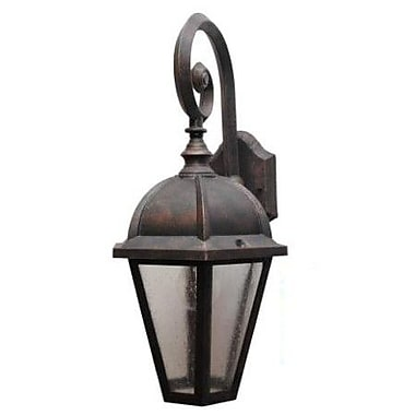 Melissa Kiss Series 1 Light Outdoor Wall Lantern Rusty Nail Staples