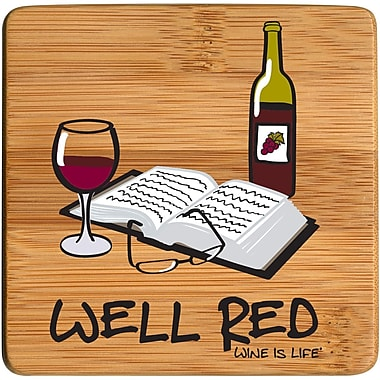 Thirstystone Well Red Bamboo Coaster (Set of 4)