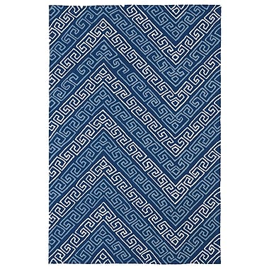 Kaleen Matira Blue Indoor/Outdoor Rug; 7'6'' x 9'