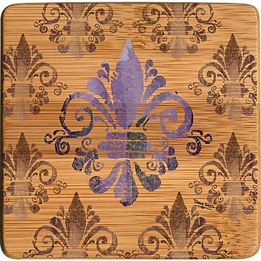 Thirstystone Fleur de Lis Bamboo Coaster (Set of 4)
