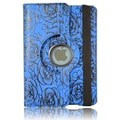 Bargain Tablet Parts iPad Mini Rose Rotating Case; Blue