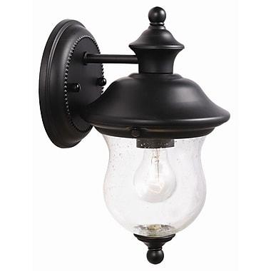 Design House Highland 1 Light Outdoor Sconce; Black