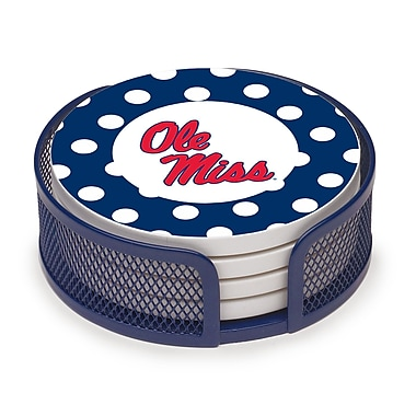 Thirstystone 5 Piece University of Mississippi Dots Collegiate Coaster Gift Set