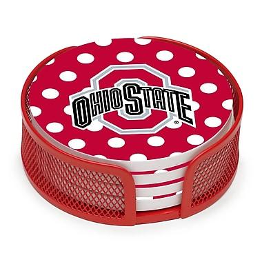 Thirstystone 5 Piece Ohio State University Dots Collegiate Coaster Gift Set